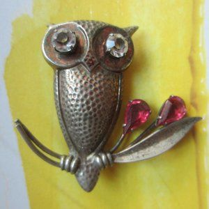 Sterling Joseff of Hollywood Style Owl Brooch